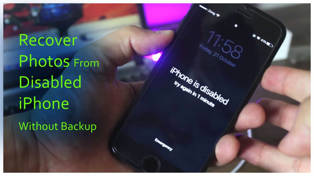 How To Recover Photos From Disabled Iphone Without Backup Iphone