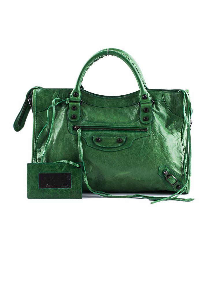 2ef9236601 Feeling Green  Balenciaga City Bag.