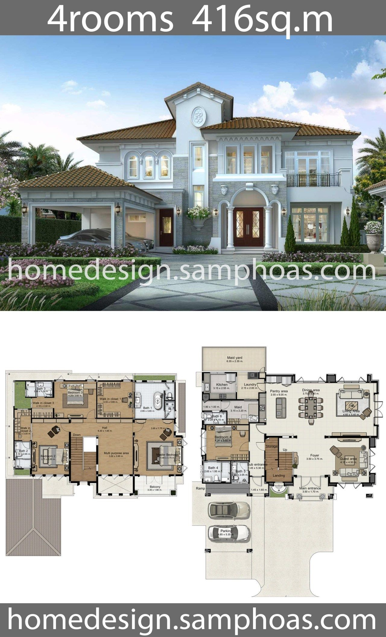 House Design Plans 416sq M With 4 Bedrooms Home Ideas House Plans Mansion Sims House Plans Model House Plan