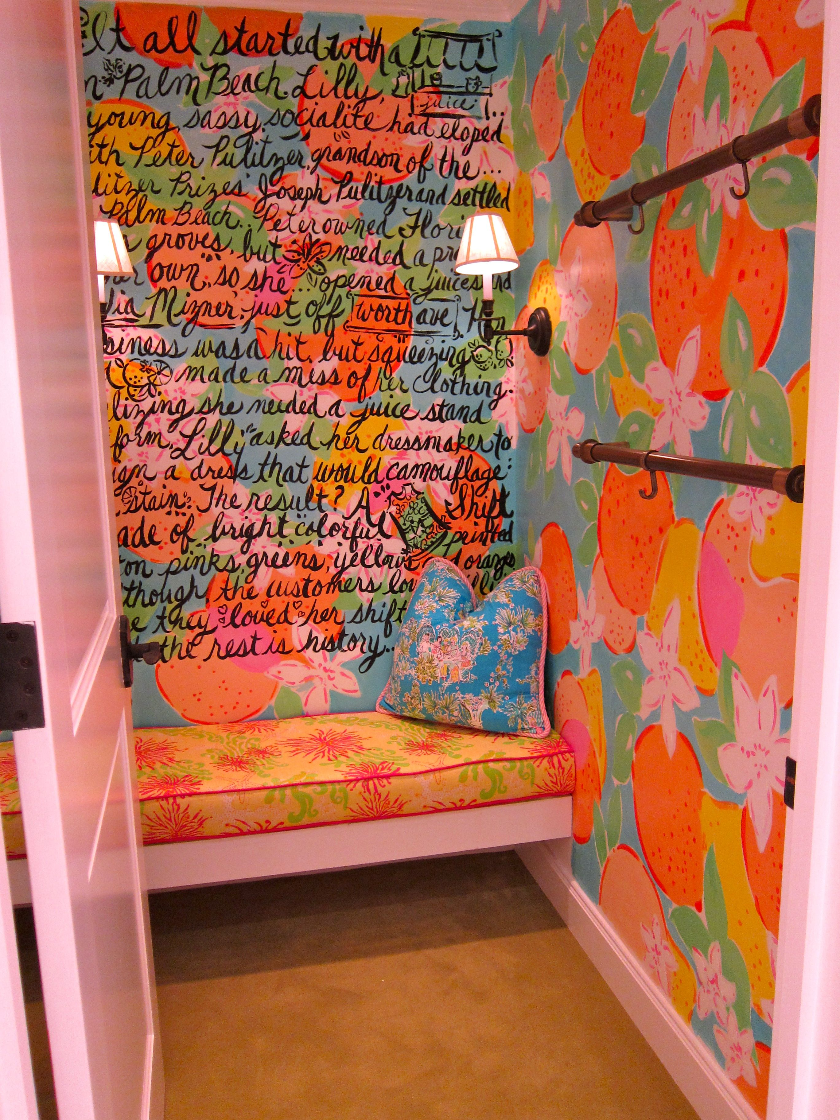 8712ecc26efc53 Brand storytelling in the fitting room inside a Lilly Pulitzer store.  #retail #branding #storytelling