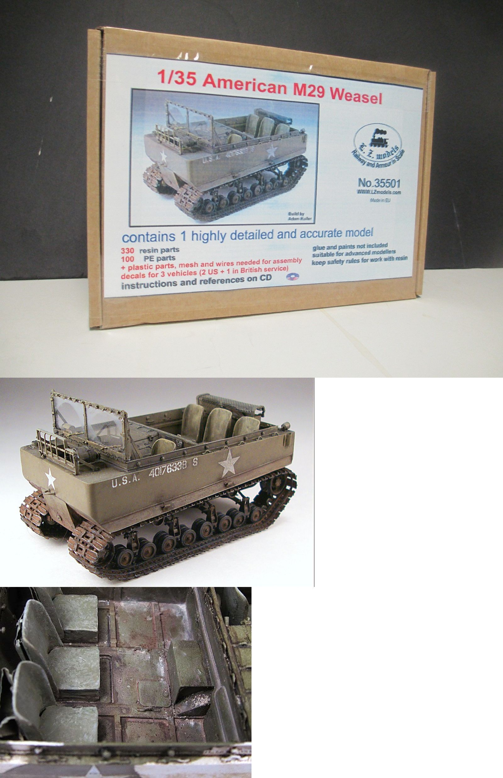 medium resolution of land 2589 lz models 35501 1 35 wwii us m29 weasel tracked vehicle resin