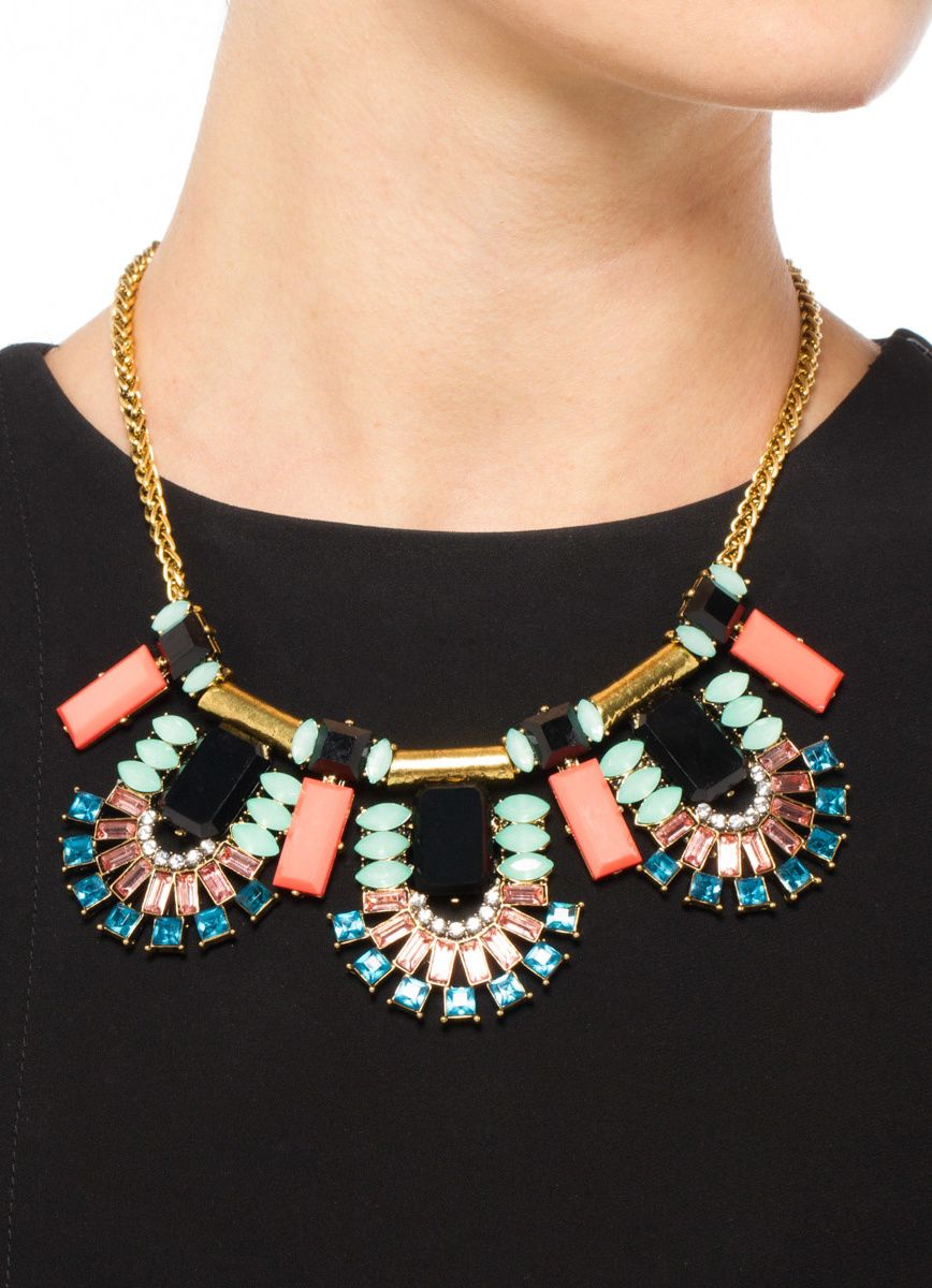 Flying Colors Statement Necklace