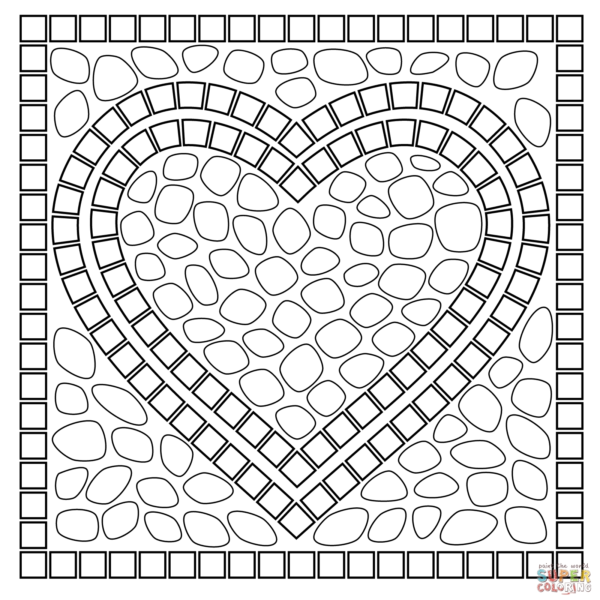 Paper Mosaic Patterns Printable Heart Flogfolioweekly Inside Printable Mosaic Patterns Printables And Menu Free Mosaic Patterns Mosaic Patterns Easy Mosaic