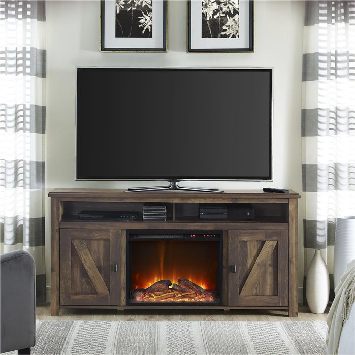 Gilby 60 TV Stand With Electric Fireplace