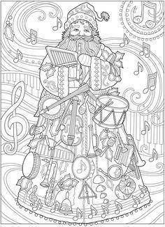 image result for vintage santa coloring page  santa