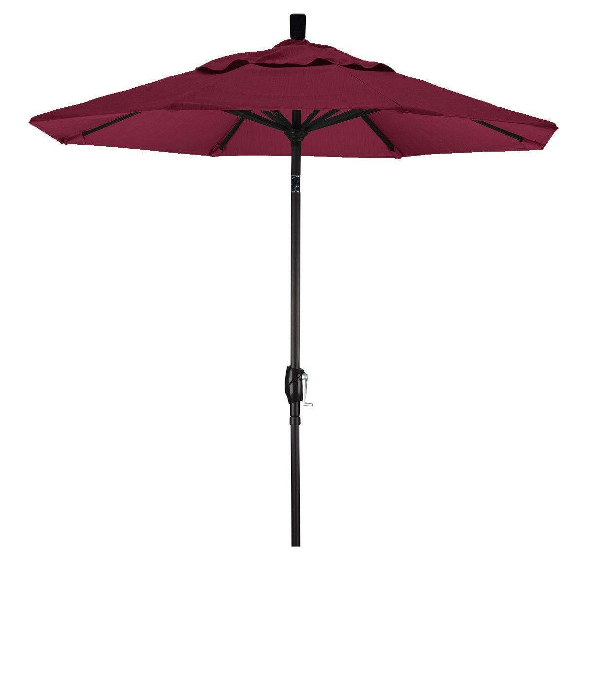 Eclipse Collection 7.5' Aluminum Market Umbrella Push Tilt M Black/Pacifica/Burgandy