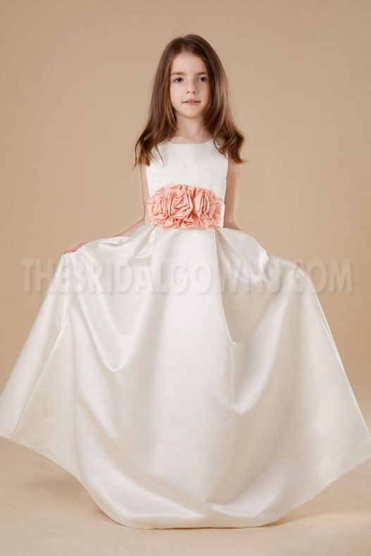 775bd00801f Satin White Romantic Flower Girl Dress - Order Link  http   www ...