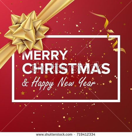 merry christmas and happy new year text vector christmas greeting card poster brochure