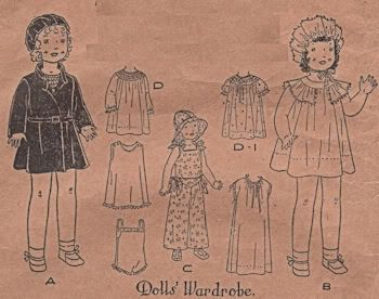 Sewing Pattern for Antique Dolls - 436