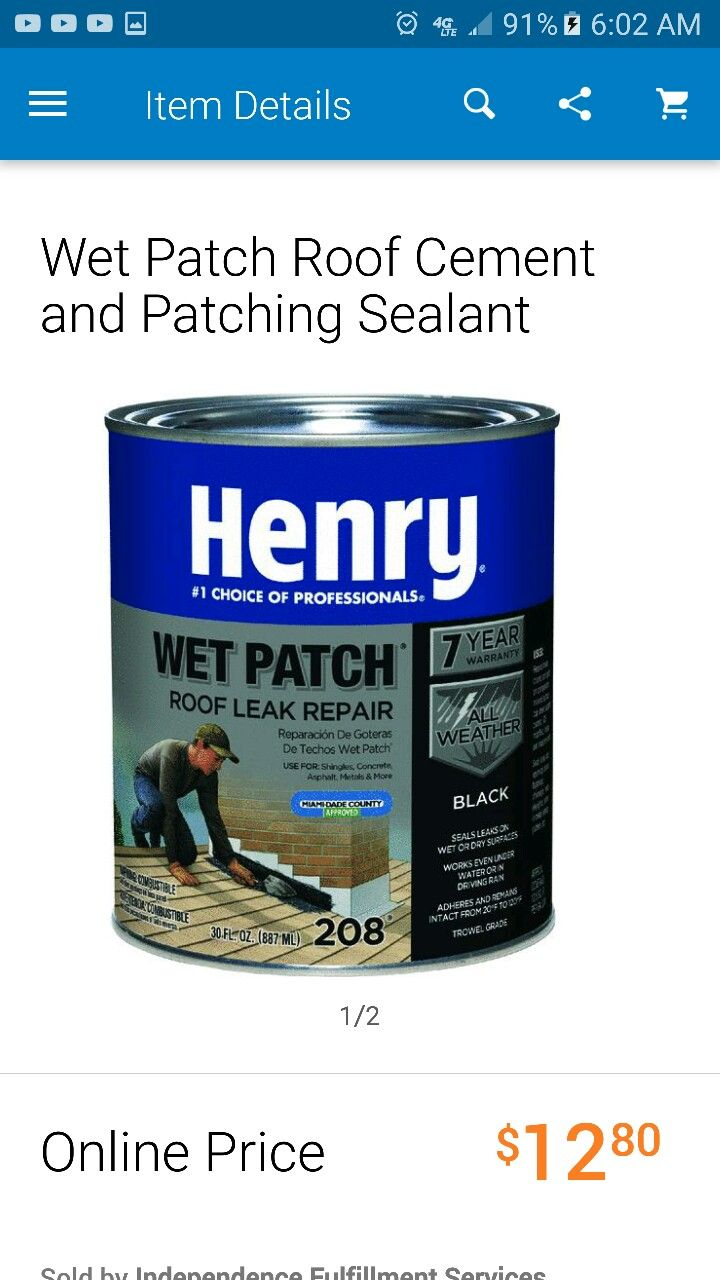 Home Improvement Roof Leak Repair Cement Patches