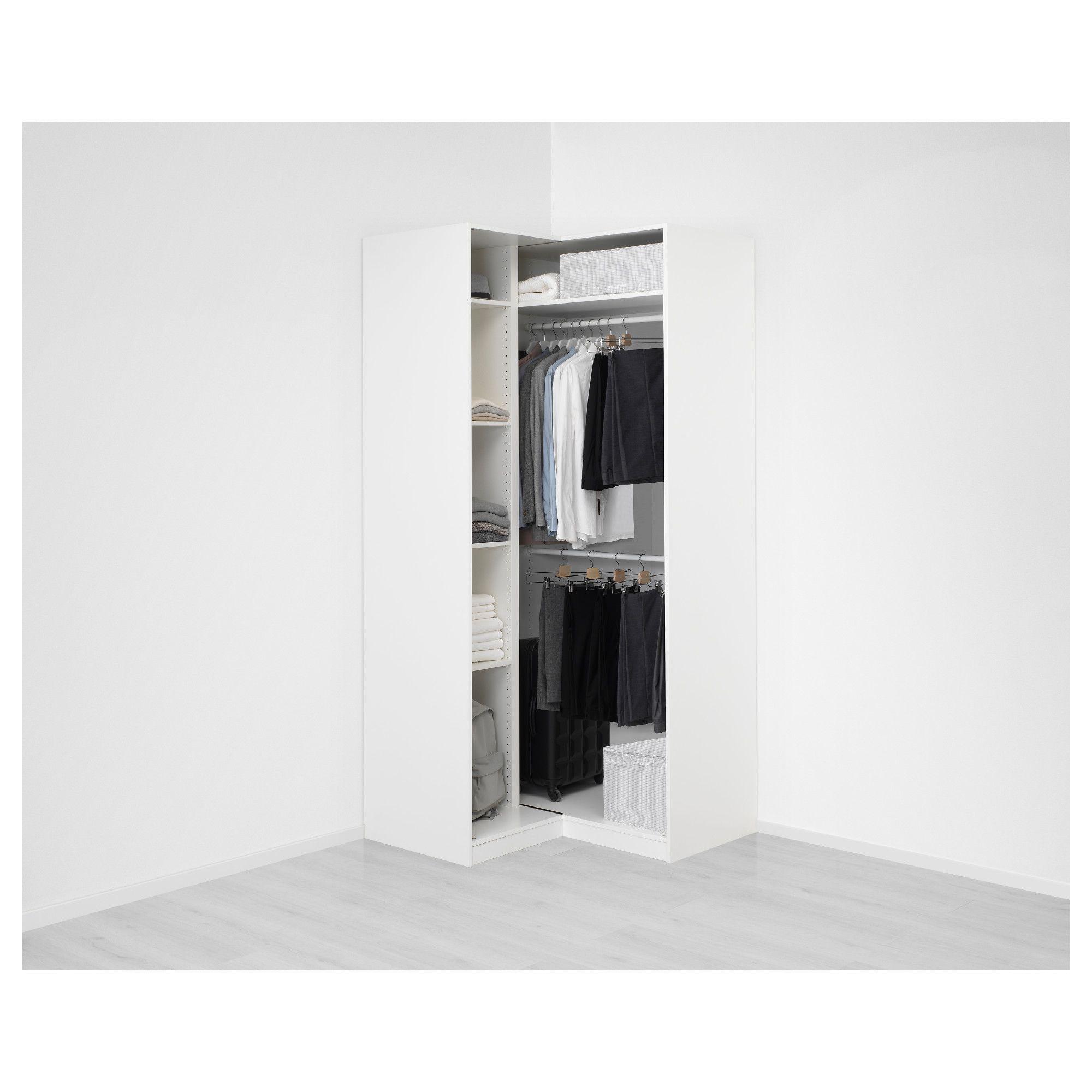 PAX Corner wardrobe White/grimo white IKEA
