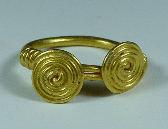 Celtic Gold Spiral Ring C 50 BC Celt Pinterest Spiral 50th