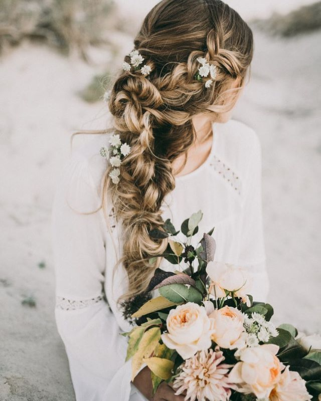 30 Stunning Wedding Hairstyles Ideas In 2019: Braided Hairstyles For Wedding