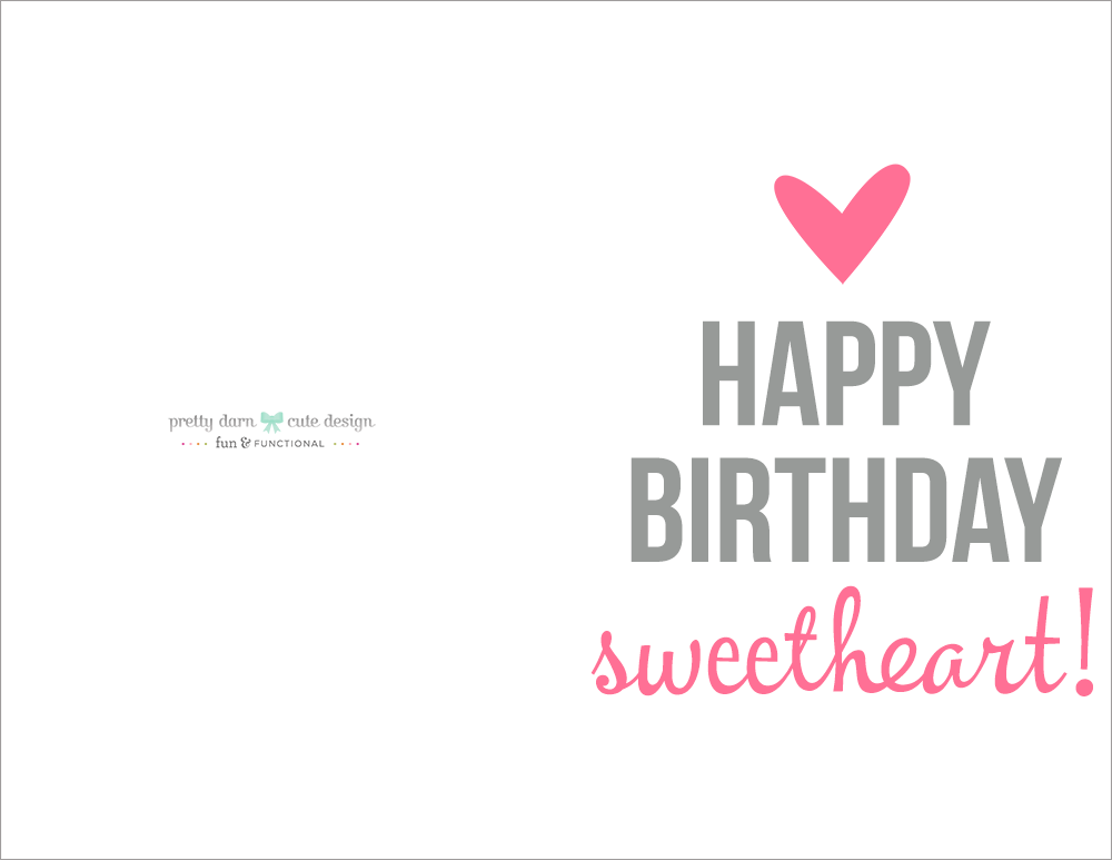 Happy Birthday Card Printable – Birthday Cards to Print out for Free