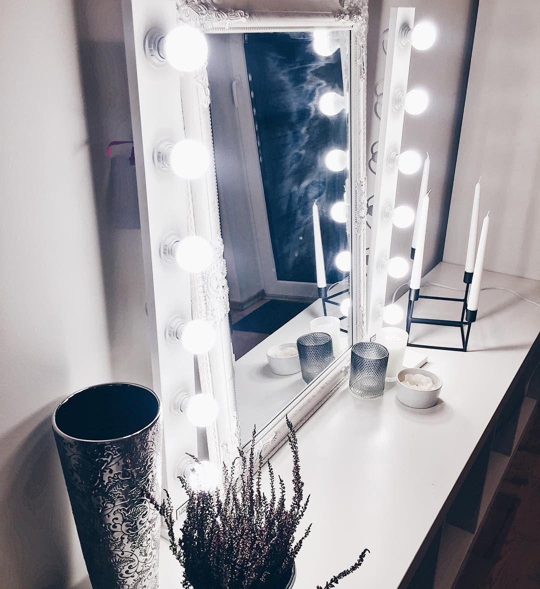 Spiegel Mit Beleuchtung Zum Schminken Hollywood Mirror Light Makeup Diva Ring Light
