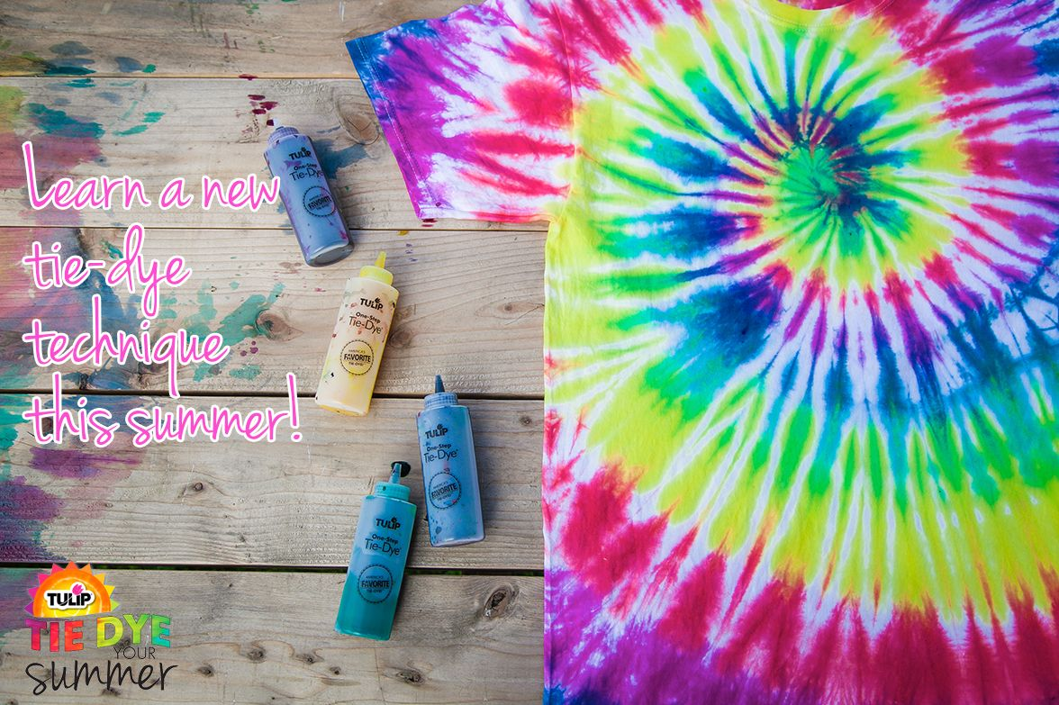 Learn a new tiedye technique this summer! How to tie