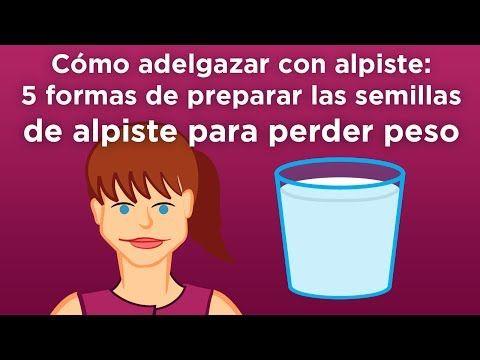 Como preparar leche de alpiste para bajar de peso