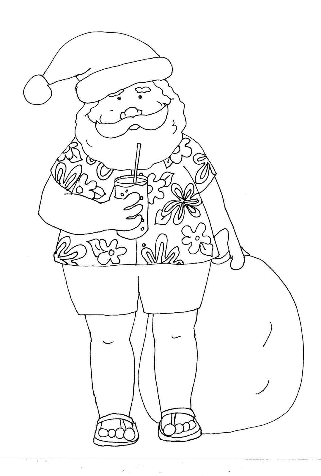 Free Dearie Dolls Digi Stamps Warm Weather Santa Digi Stamps Watercolor Christmas Cards Christmas Coloring Pages