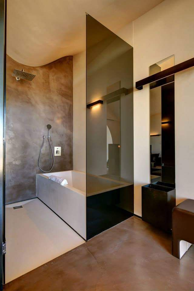design badkamer met cement design® afwerking #design #bathroom, Badkamer