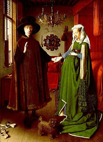 """The painting that I feel in love with Dutch paintings with!!! """"The Wedding Portrait"""" by Van Eyck"""