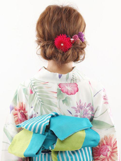 浴衣で1番可愛い髪型はコレ 大人のミディアムアレンジ集 浴衣 ヘア