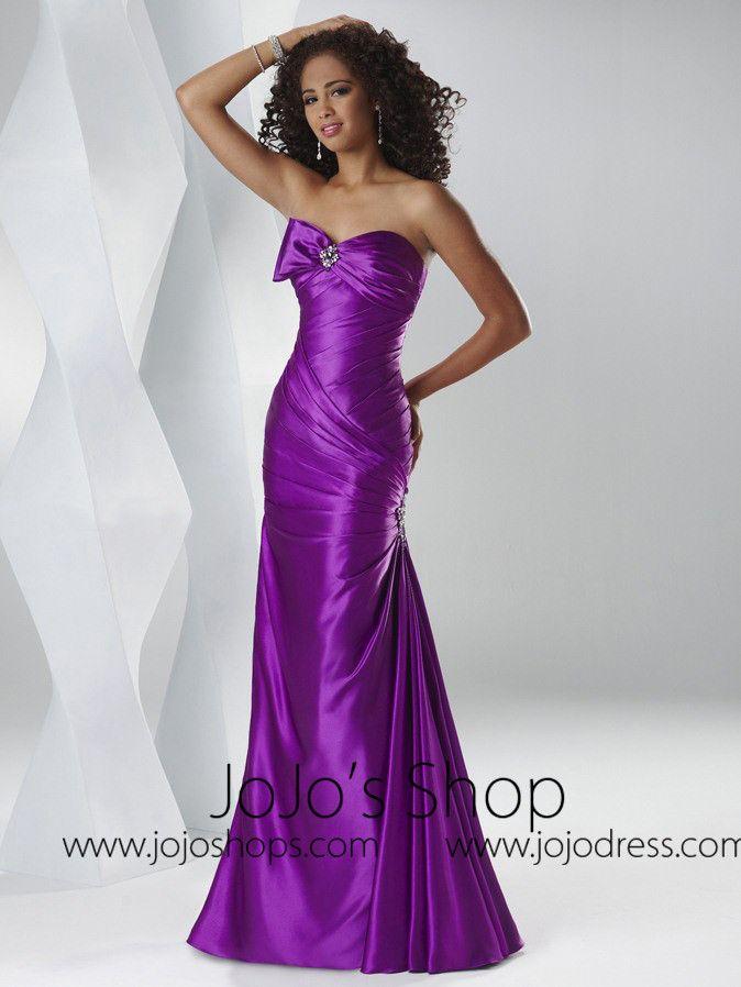 Purple Fit N Flare Graduation Prom Evening Formal Dress HB2021D