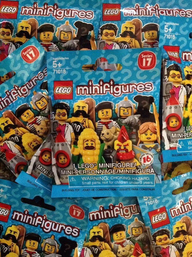 Lego Minifigures Series 17 Lot Of 5 Blind Bags Sealed Brand New Unopened 71018 Ebay Mini Figures Lego Lego News