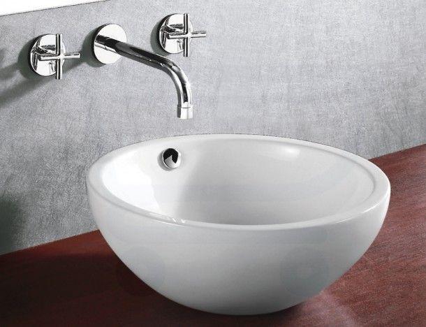 Kleine Waskom Toilet : Badkamer inspiratie ronde waskom met kraan uit de muur