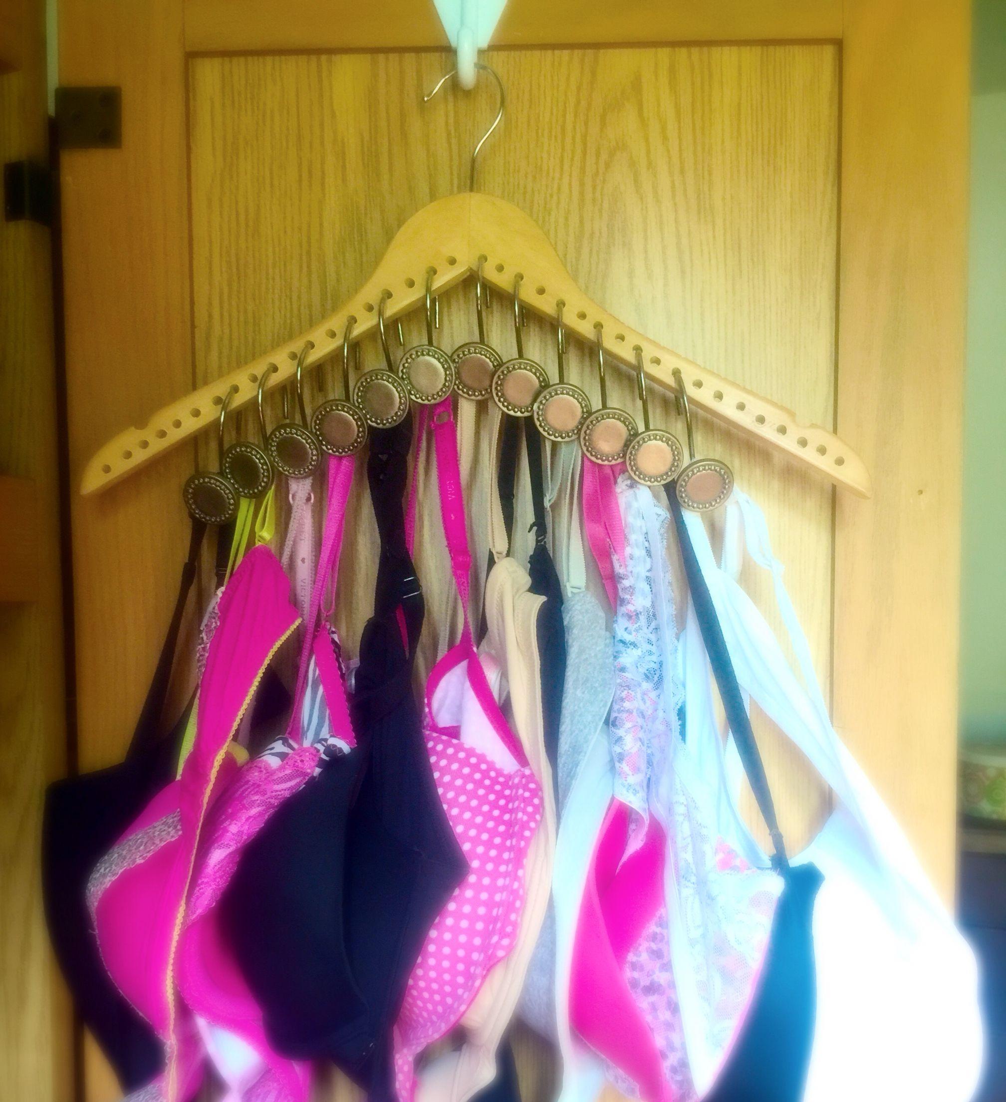 #Bras #Space Saver #Getyourdrawerback #Shower Hooks # Hanger #Diy **My
