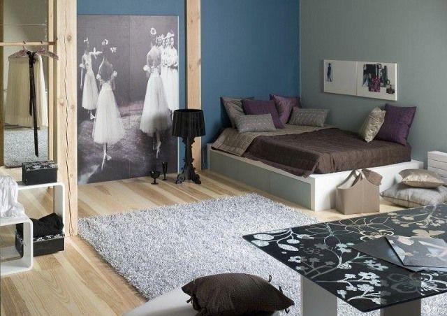 jugendzimmer ideen mädchen deko ballerinnen foto wand modern ... - Moderne Jugendzimmer