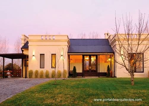 Modern and traditional country house in Argentina una