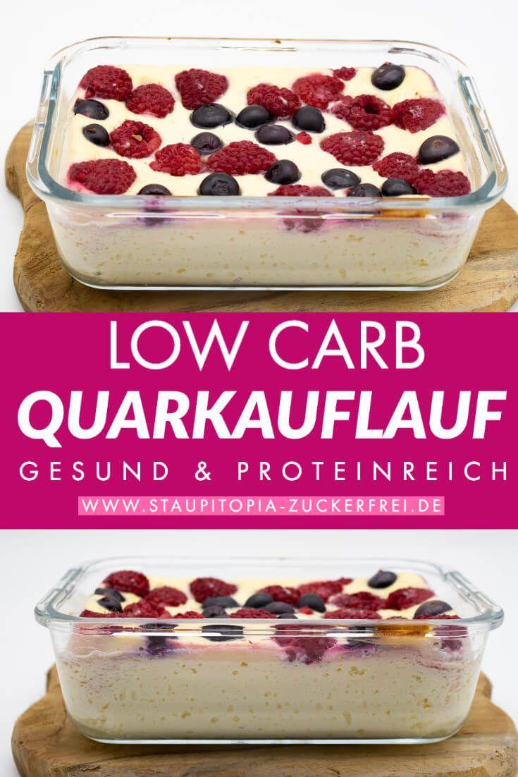 Low Carb Quarkauflauf ohne Mehl - Staupitopia Zuckerfrei