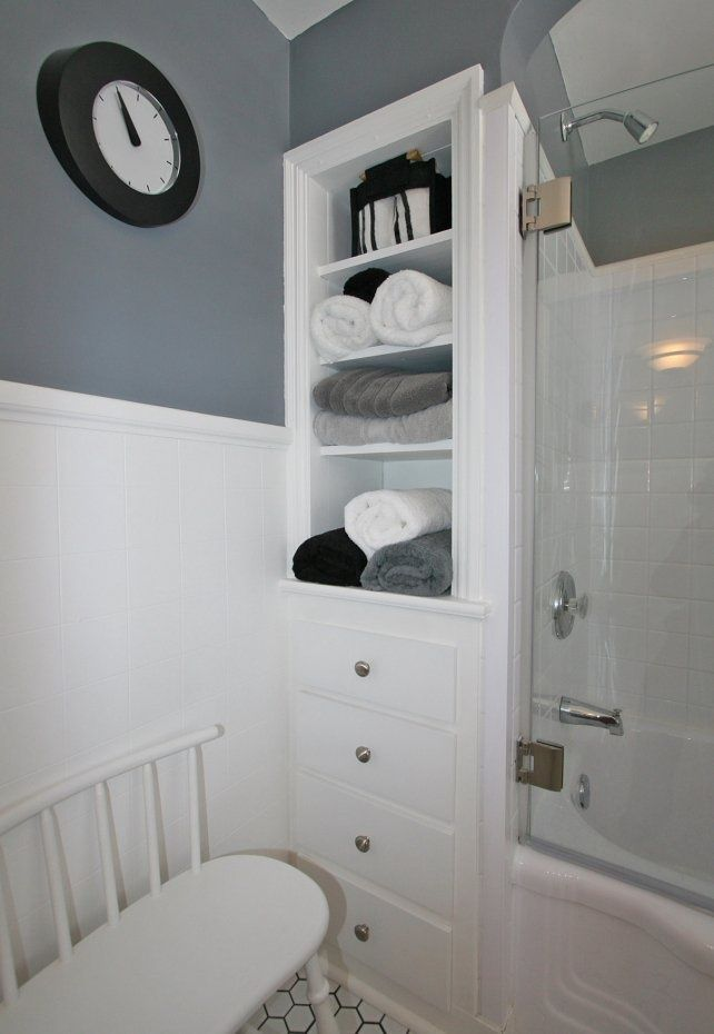 Pictures Of Built In Bathroom Shelves Cabinets