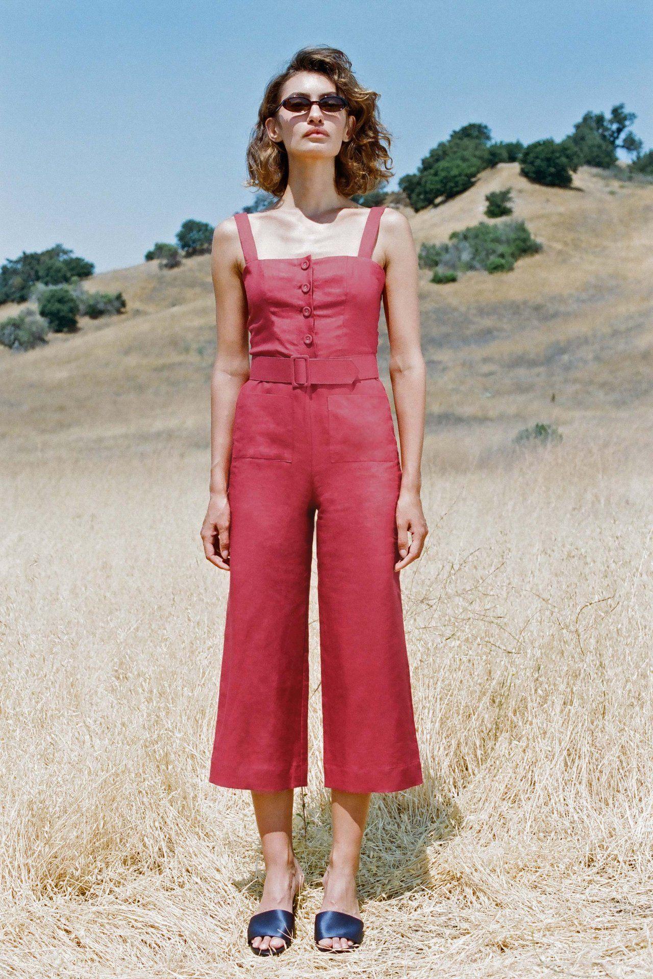 e16e939d1f5 Mango Linen Jumpsuit