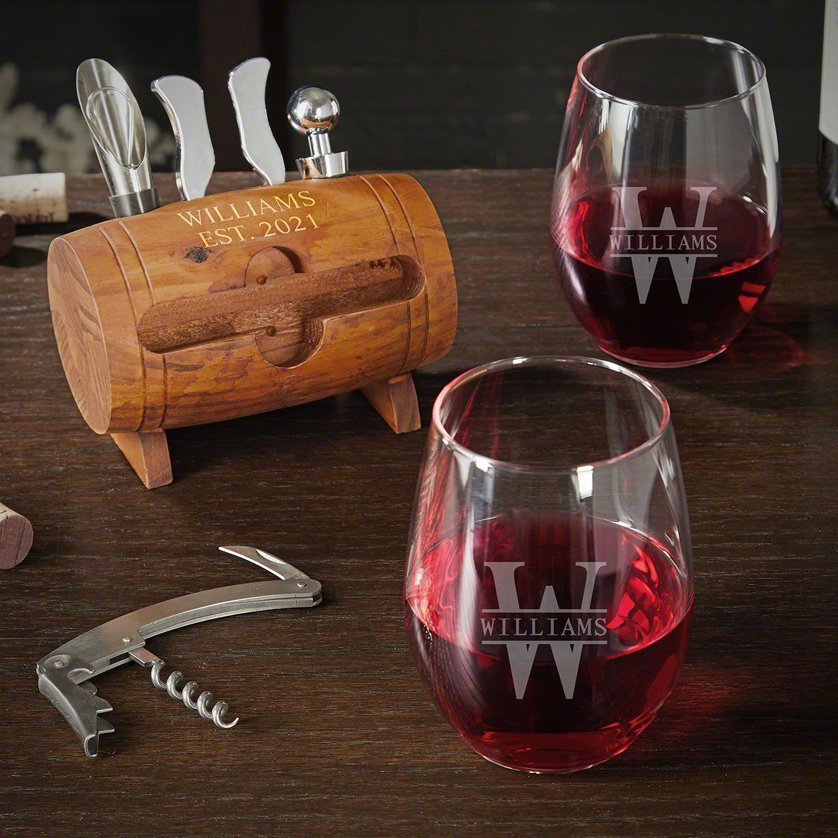 Best Wine Openers 2021 Oakmont Personalized Wine Opener Set with Wine Glasses in 2020