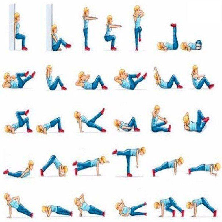 Самые легкие упражнения для похудения видео