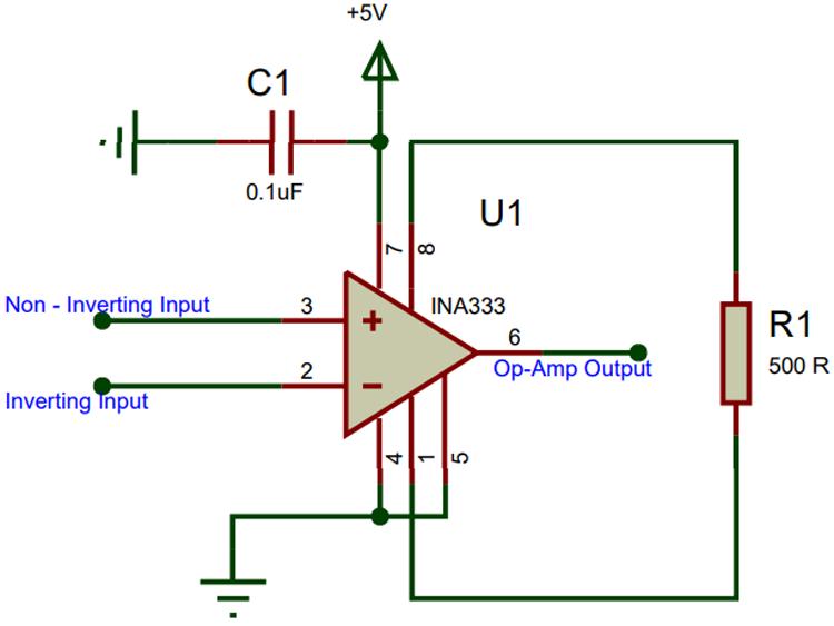 Ina333 Circuit Diagram Buffer Amplifier Impedance Matching Circuit