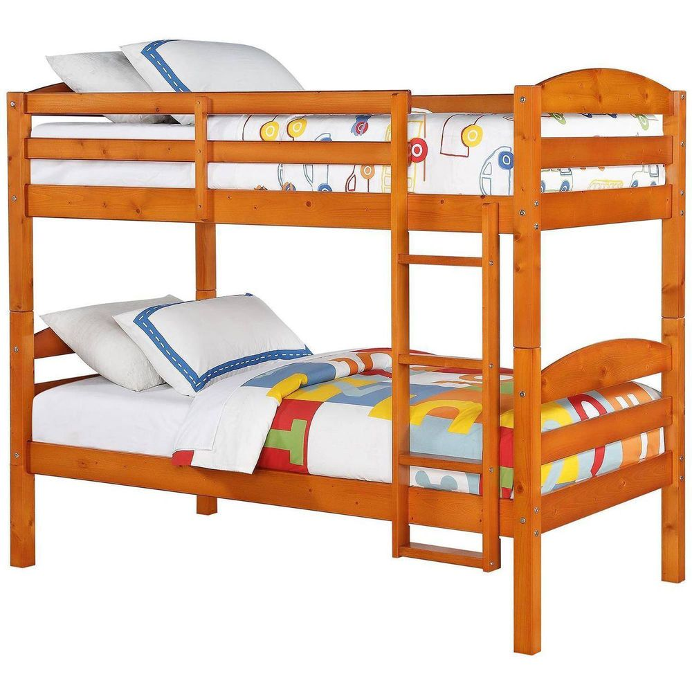Details About Wood Bunk Bed Twin Over Twin Kids Loft Beds Ladder Bedroom Convertible Pine Wood Bunk Beds Bunk Bed Designs Twin Bunk Beds