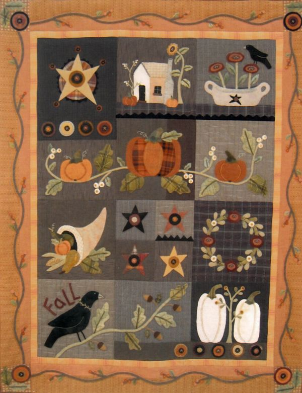 Autumn Quilt Block of the Month - The Quilted Crow Quilt Shop ... : the quilted crow - Adamdwight.com