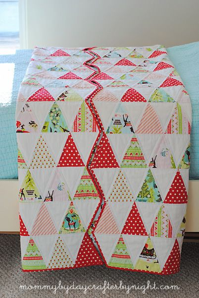 Mommy By Day Crafter By Night Isosceles Triangle Quilt