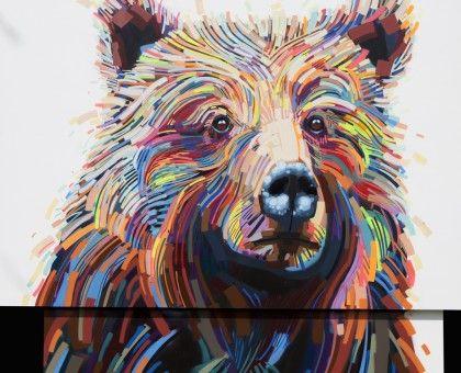 Seattle artist fine art geometric portrait justin kane elder   Justin Kane Elder
