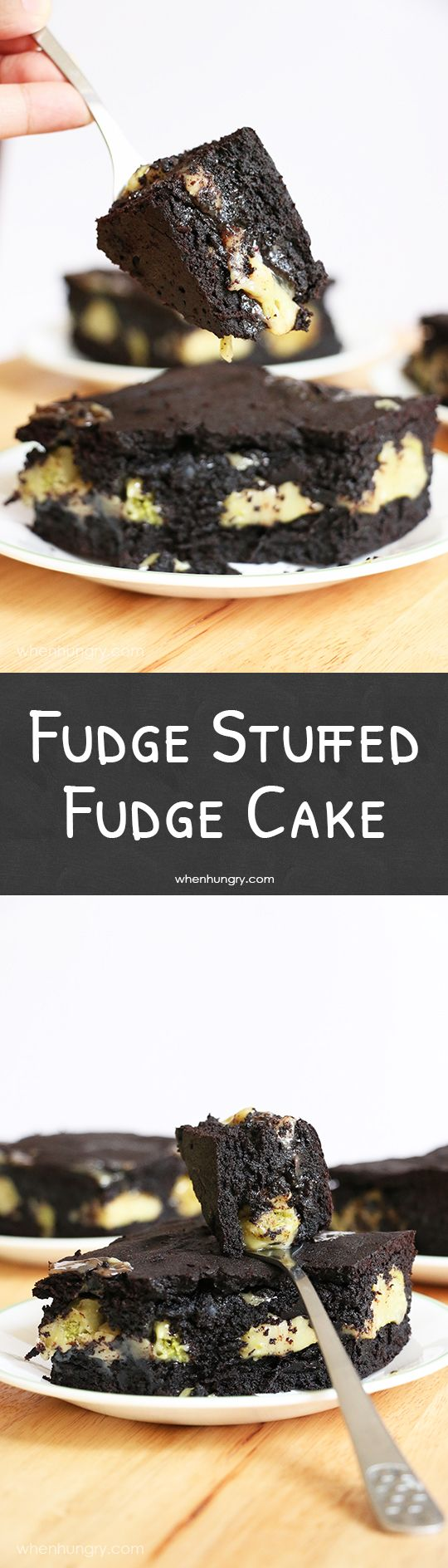 Fudge Stuffed Fudge Cake