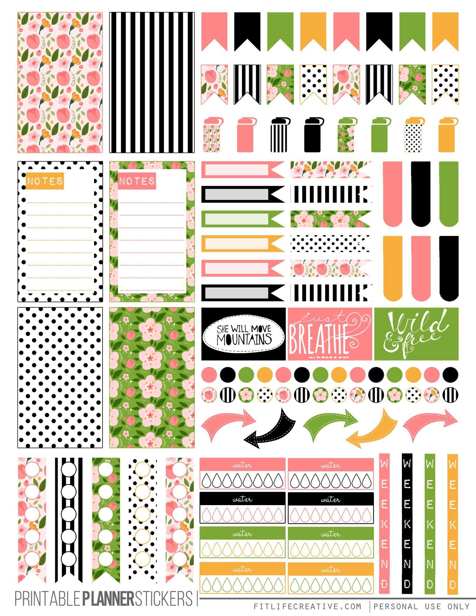 Spring Floral Planner Stickers Planner Printables Free Happy Planner Stickers Planner Stickers