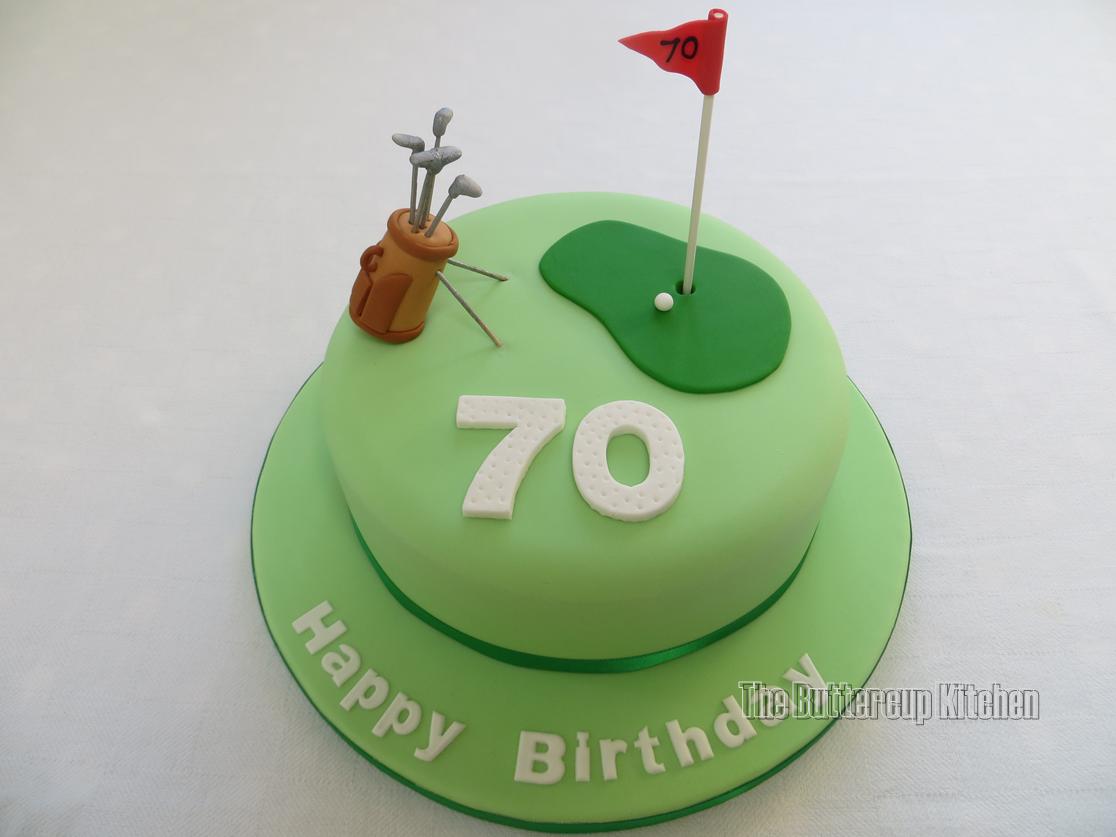 70th birthday golfthemed cake by wwwthebuttercupkitchencouk