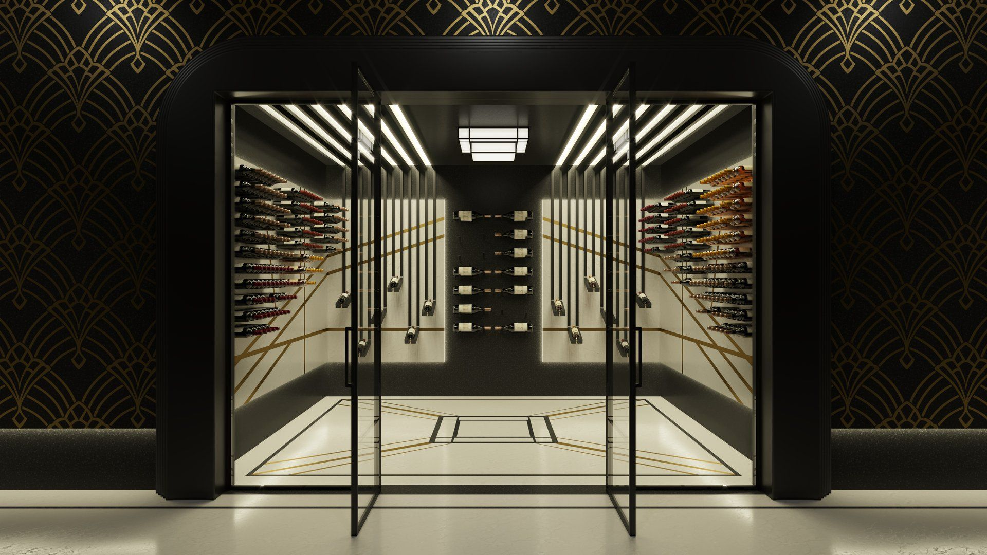 A Stunning Art Deco Style Wine Cellar Designed To Hold 320