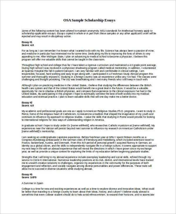 Scholarship Essay Samples template Pinterest Ghostwriter