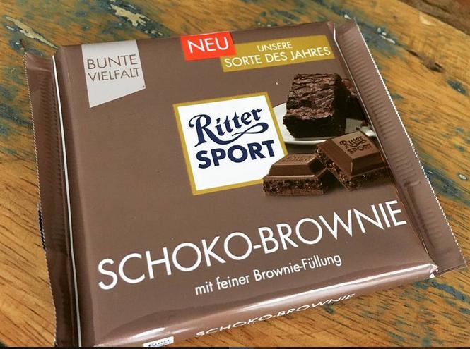 Ritter Sport Brownie Bar Candy bar, Brownie bar, Food