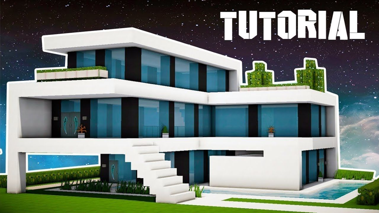 How To Build A Large Modern House In Minecraft Interior