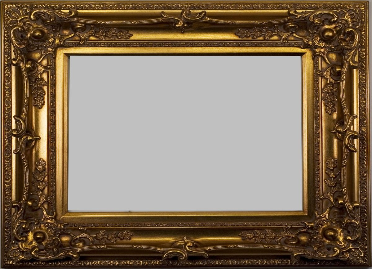stunning gold picture frame with many layers of beautiful
