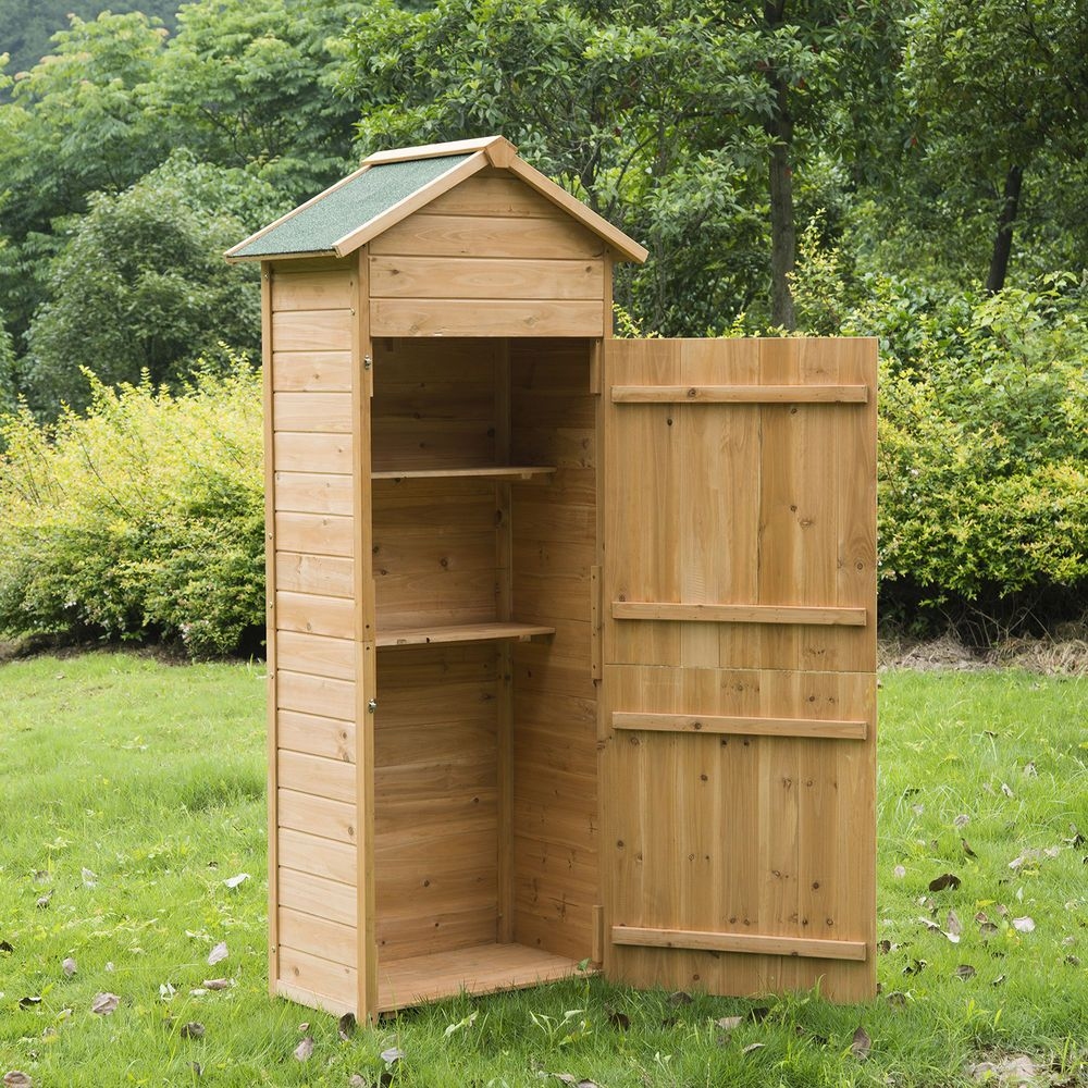 Details about new wooden garden shed apex sheds tool for Outdoor garden shed